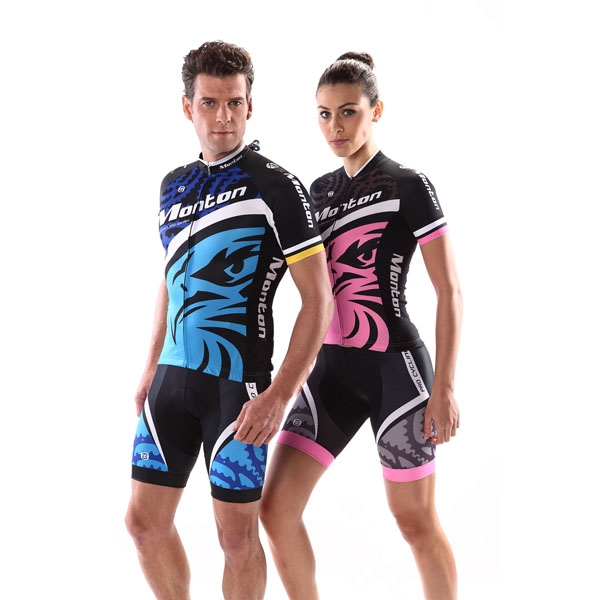 2014 Monton couple reflective cycling clothes wiht bib shorts