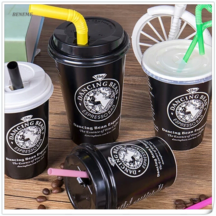 High Quality Premium Custom Logo Printed Disposable Paper Coffee Cups