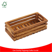 YG Crafts Customize Made Solid Wood Bread Crate wholesale
