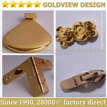 Custom high quality gold plated bag hardware, Die casting zinc alloy furniture hardware gold plated handle