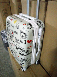 korean fashion abs pc trolley case set and colourful luggage 3pcs set