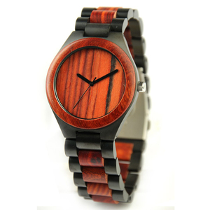 Hot Sale Waterproof Casual Hand Made Ebony Wood Watch Custom Sandalwood Watch