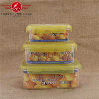 4pcs rubbermaid easy find lid food storage container