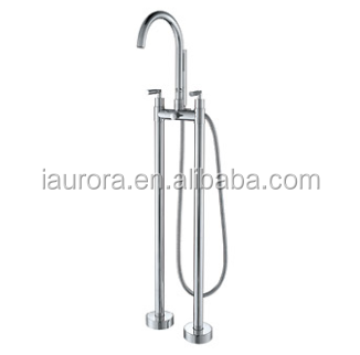 brass body double lever floor mounted faucet