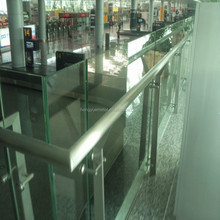 indoor frameless glass railings handrail for staircase