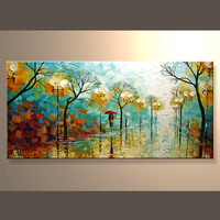 Popular Wholesale Handmade Living Room Canvas Oil Painting
