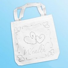 Heart To Heart White Canvas Tote bags, School Bag, Shopping Bags, Hands Bag, Christmas Supplies