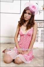 2013 Newest Pink Mature Hot Sexy Girls Babydoll Dress Wholesale And Retail DY5455