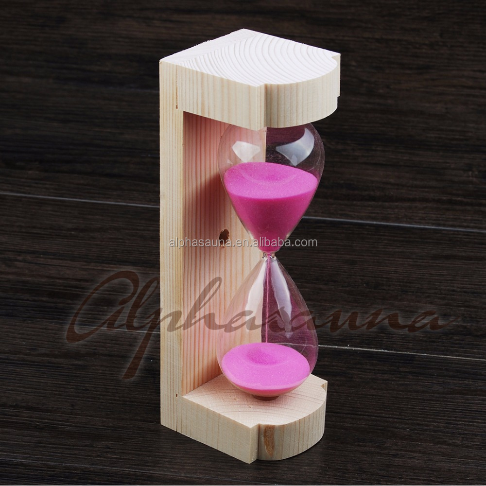 Sauna Parts and Accessories Sand Timer Red Powder Including 2pcs screw for Wall Mounting Installation