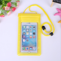 pvc mobile phone waterproof bag for Samsung,Iphone 6 plus 2017 waterproof bag
