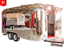 MINGGU Australia Standard Airstream Food Trucks Mobile Kitchen Fast Food Trailer With Appliances For Sale