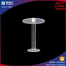 China modern furniture acrylic lucite round dining table for home