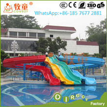 hotel fiberglass swimming pool slides for private pool