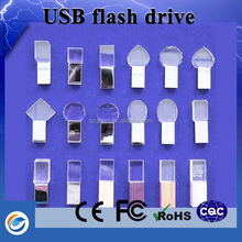 New products on china market glass usb flash drive with gift basket