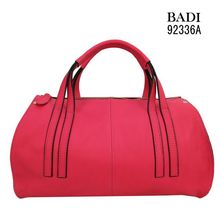 2014 new arrival fuchia leather bags summer bright color woman geniune leather handbags
