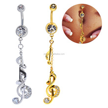 Fahion Body Piercing Navel Rings Full Diamond Clear Dangle Belly Button Rings