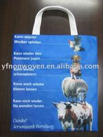 Off set printing shopping bag with non woven fabric