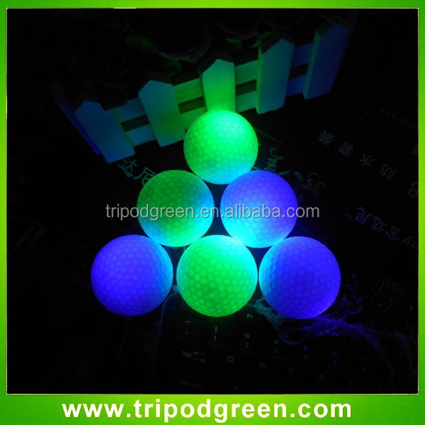 Glow In Dark LED Light Up Golf Balls Official Size Constant Lit
