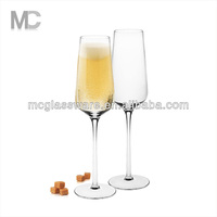 Wholesale Hot Selling Non Led Crystal Long Stem Champagne Glass