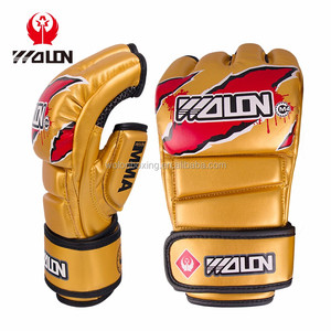 China Wholesale Half Finger MMA Boxing Gloves