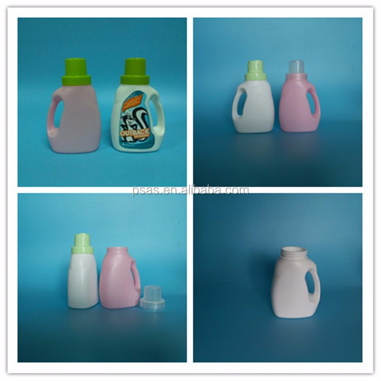 Empty HDPE material plastic Laundry liquid bottle softener detergent containers with screw cap