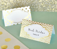 Metallic Gold or Silver Foil Place Cards <strong>Wedding</strong> Favors Party Decoration