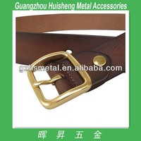 High quality polished natural brass solid belt buckles