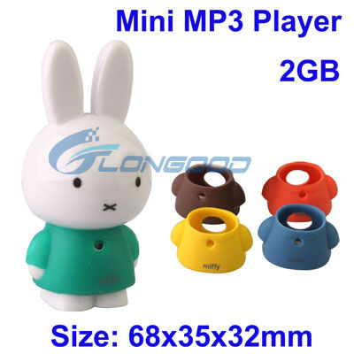 Cute Animal Shaped MP3 Player Mini MP3 Player