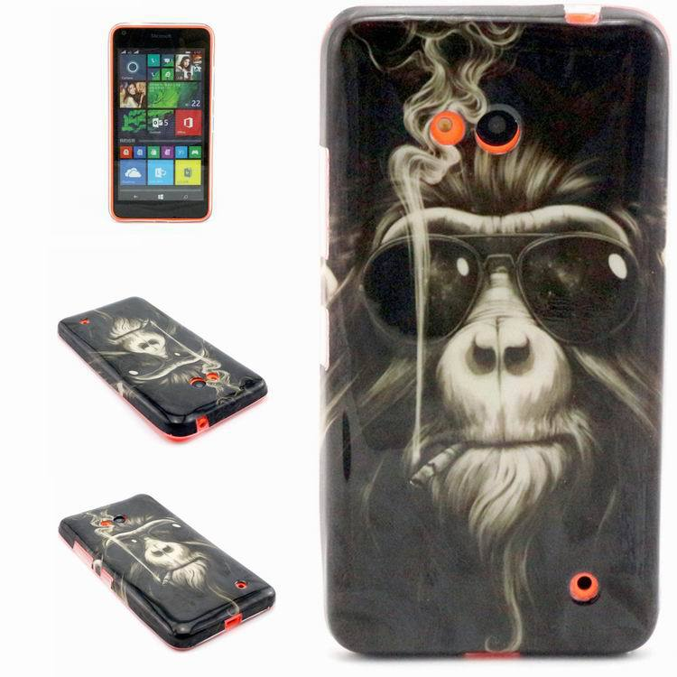 Phone acessories Print Soft TPU Gel Silicone Phone Case Cover for Nokia N535