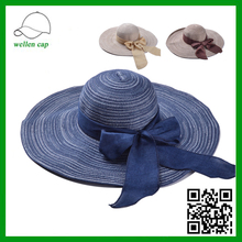 new product big brim bowknot farmers paper women straw hat for whloesale