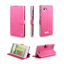 Ice Silk Pattern Wholesale Ultra Leather Flip Case for Lenovo A880, Mobile Phone Case forLenovo A880