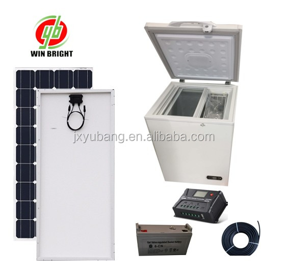 100L chest deep Solar Freezer refrigerator Icebox cooler 12V 100% Powered by Solar