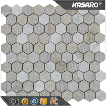 KSL-151093 kitchen designs small kitchens hexagon marble mosaic tiles for kitchen