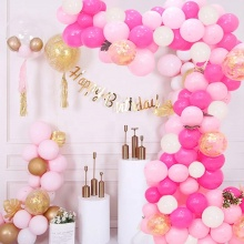 107Pcs Balloons Pink Garland Set Birthday Baby Shower Wedding Decorations Balloons Arch Kit