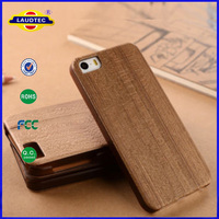 Natural Real Wood Hybrid Hard Back Leather Cover Case For iPhone 6 4.7 inch