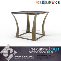 2015 low price wholesale unique design metal coffee table