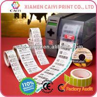 Adhesive Barcode Printer Labels