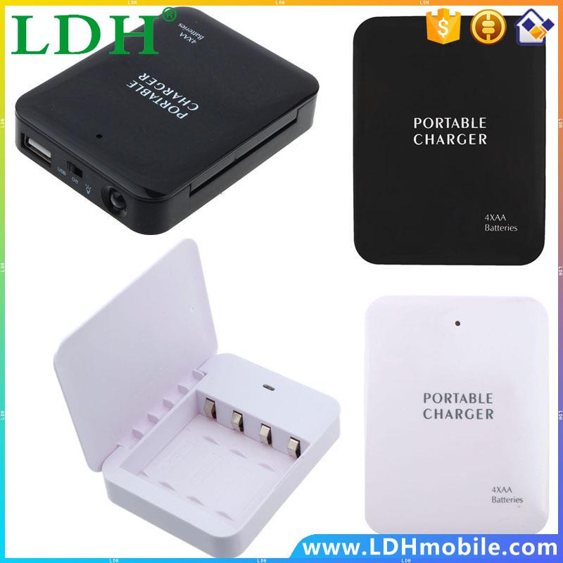Powerbank Portable 4X AA Battery Emergency USB Power Bank Charger for Mobile Phone Colorful Various Hgih Quanlity wholesale