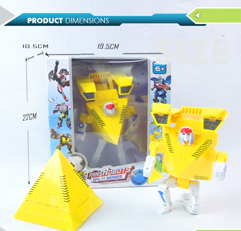 Deformation toys intelligent transformable pyramid pattern robot education for wholesale