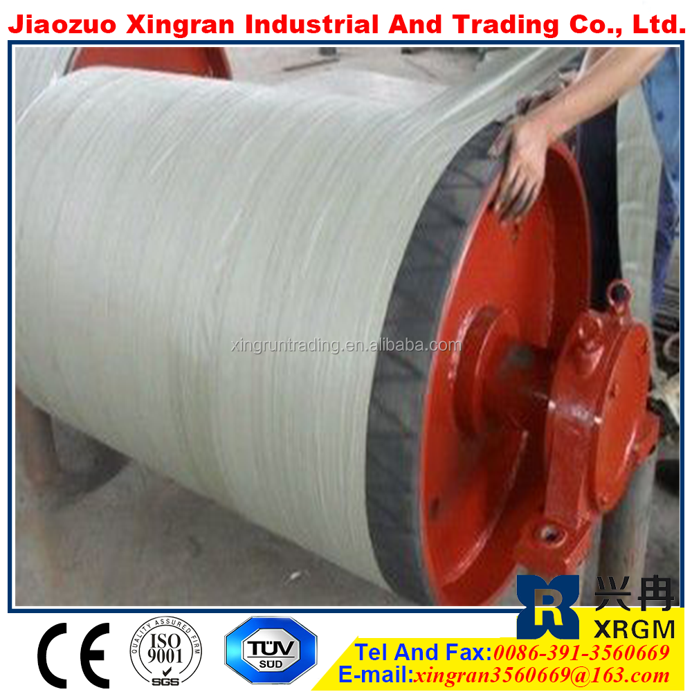 carrying idler stainless steel pulley rubber coat