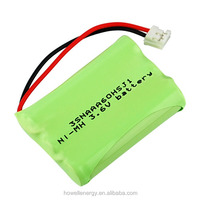 UN38.3 UL Approved ni-mh battery pack aaa 600mah 3.6v / 4.8v 600mah ni mh aaa battery pack