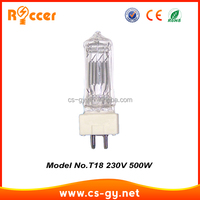 Halogen Bulb Lamp single ended filament bulbs 230v 500w GY9.5