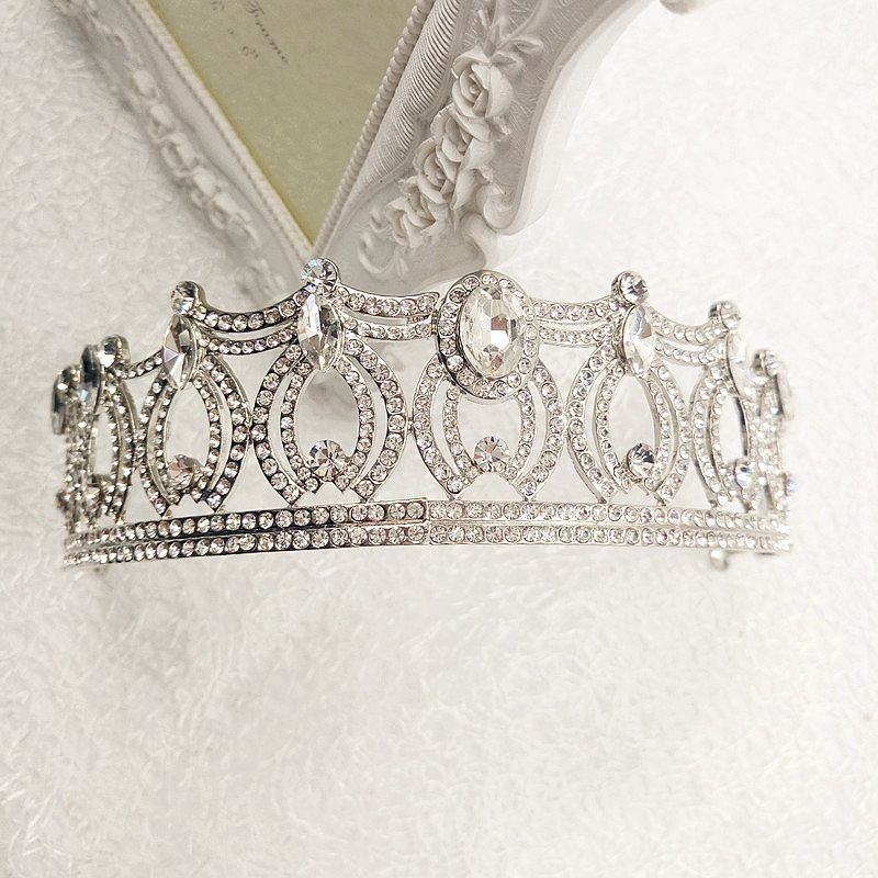 OEM Elegant Luxious Crystal Princess Tiara Jewelry Bridal Wedding Rhinestone Crown