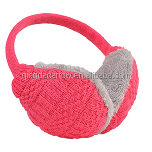 Knitting Plush Female Winter Earmuff Warm Ear Muffs Girls Earmuffs Earphone Ear Warmers Protector Fur earphones