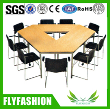 wooden negotiate table and chairk/office small meeting table/office training table