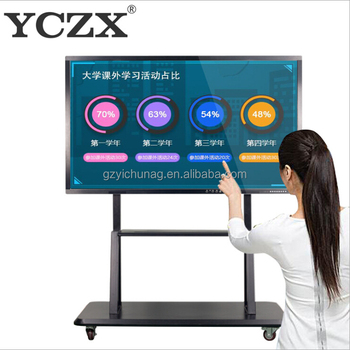 FHD LED 65 inch smart interactive touch screen white board