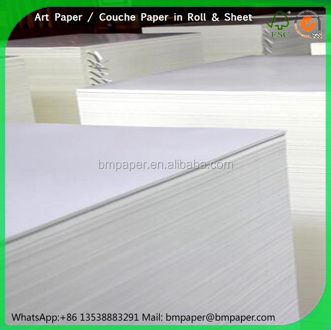 High quality Art Paper 90gsm 100gsm 120gsm in sheet