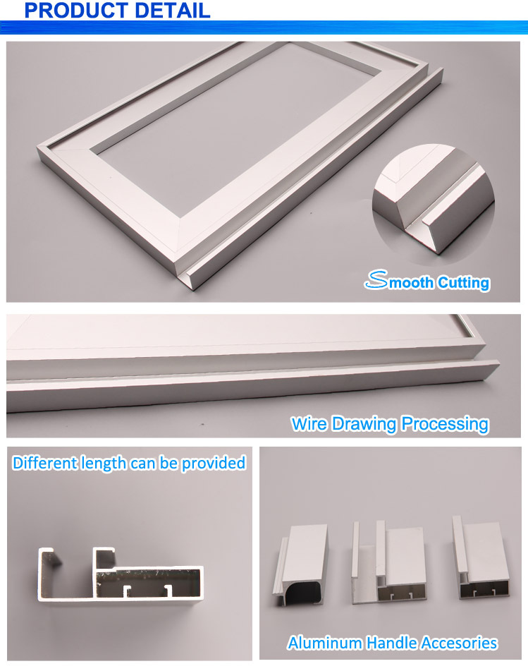 Kitchen Cupboard Handles Concealed Aluminum Extrusion Snap Frame