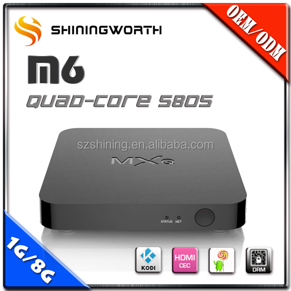 Top Selling Android 4.4 OS HD 1080P S805 KODI IPTV Box Japanese TV Internet TV Supplier