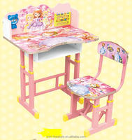 pink color children table and chair/kids desk for sale